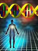 image of genetic engineering  - Dna as the building block of human being - JPG