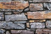Stone Wall. The Wall Of The Rough Stone. Stone Background. Stone Texture For Creativity. poster