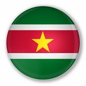 Badge With Flag Of Suriname