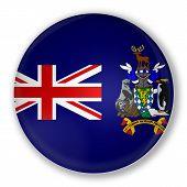 Badge With Flag Of South Georgia Island