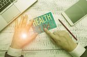 Conceptual Hand Writing Showing Health Law. Business Photo Text Law To Provide Legal Guidelines For  poster