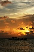 image of promontory  - beautiful sunset at beach located on the Promontory of the island of Java Karimun - JPG