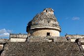 Mayan Observatory El Caracol At Chichen Itza