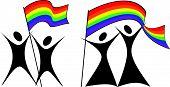 Gay paren met een Flag.eps