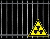 Grate  Radioactive Sign