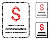 Invoice Budget Mosaic Of Tuberous Items In Variable Sizes And Color Tones, Based On Invoice Budget I poster