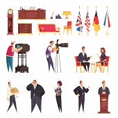 Presidential Official Residence Workplace Staff Furniture Accessories State Flags Podium Speech Repo poster