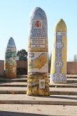 Ceramic monoliths, Talavera, Toledo, Spain