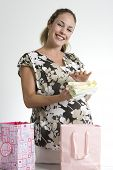 Woman And Birthday Gifts