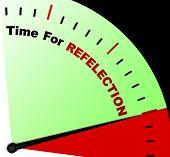 Tijd voor reflectie bericht zin denken of weerspiegelen