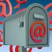 Buzón de correo electrónico muestra la bandeja de entrada y salida de correo