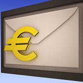 Euro On Envelope Shows European Correspondence