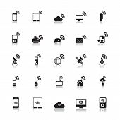Wireless Icons Hotspot vector