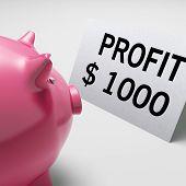 Muestra de dólares de ganancias ingresos ingresos ahorros alcancía