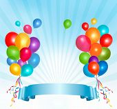 Background with colorful balloons. Vector.