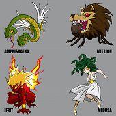 Criaturas míticas conjunto 17