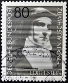A stamp printed in Germany shows Edith Stein