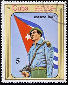 stamp printed in Cuba dedicated to XXV Anniversary of the National Revolutionary Militias