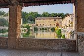 old thermal baths in Bagno Vignoni, Italy