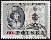 A stamp printed in Poland shows portrait of the Polish astronomer Nicolaus Copernicus