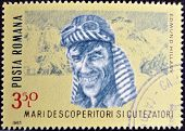 stamp printed in romania shows Edmund Hillary