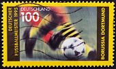 stamp printed in Germany dedicated to Borussia Dortmund