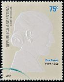 a stamp printed in Argentina shows Evita Peron