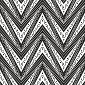 Zig Zag Seamless Pattern In Black And White Colour