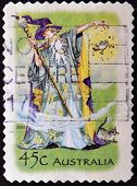 AUSTRALIA - CIRCA 2002: A stamp printed in Australia shows Wizard, circa 2002
