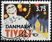 DENMARK - CIRCA 1993: A stamp printed in Denmark dedicated to Tivoli circa 1993