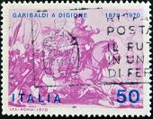 A stamp printed in Italy,