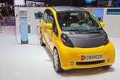 GENEVA - MARCH 8: The Mitsubishi IMIEV electric car customized by Rindpeed on display at the 81st In