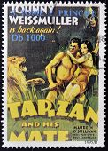 A stamp printed in Sao Tome shows Tarzan