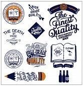 illustration retro vector label typographic and calligraphic symbols