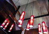 foto of light fixture  - Arrangement of hanging lighting fixtures in Thai style - JPG
