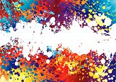 Ink Splat Rainbow weiß