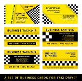Business card taxi - tenth set