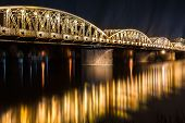 Night view of Truong Tien Bridge in Hue.