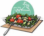 fresh greek vegetable salad