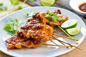 picture of rocket salad  - Grilled chicken with Thai  - JPG