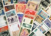 Currencies From Around The World, Paper Banknotes.