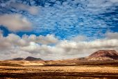 Mountain volcanic landscape, Fuerteventura, Canary Islands, Spain