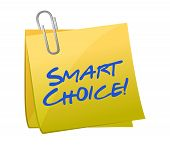 Concepto Smart Choice en un Post-it