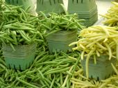 stock photo of green-beans  - String beans for sale at farm market - JPG