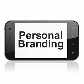 Marketing concept: Personal Branding on smartphone