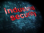 Safety concept: Industrial Security on digital background