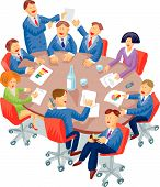picture of business meetings  - Meeting room snapshot with a lot of individual behaviors - JPG