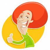 Red Haired Man Who Is Thumbsing Up