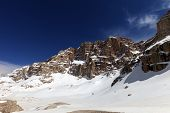 picture of plateau  - Snowy plateau at nice spring day - JPG