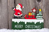 Christmas Card With Wooden Sign